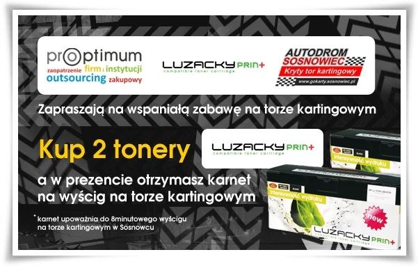 Kup 2 tonery Luzacky Print a w prezencie otrzymasz karnet na wyścig na torze kartingowym.